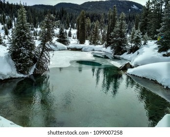 Ink Pots at Johnston Canyon in winter