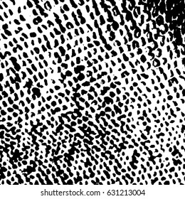 Ink Print Distress Background . Grunge Texture. Abstract Black and white illustration.