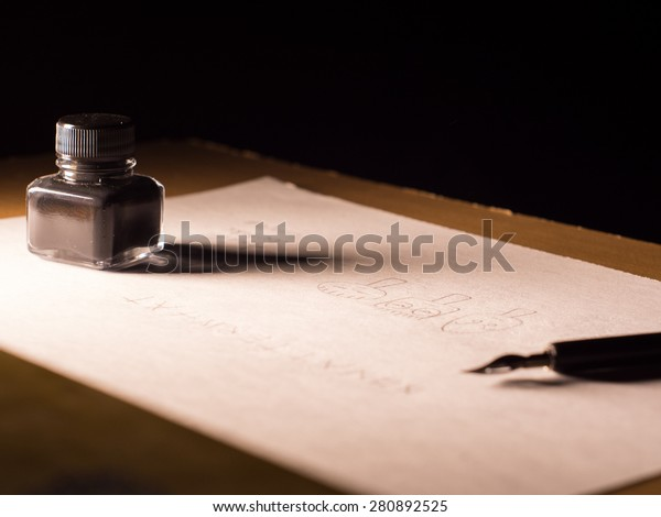 ink quill pen paper