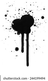 Ink spill and drips or oil spill mess