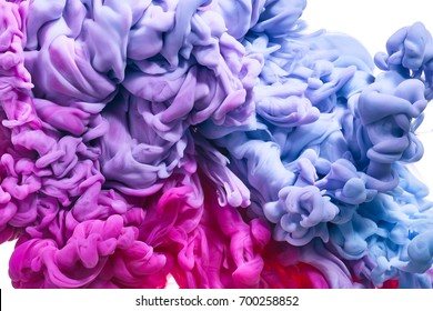 Ink in water. Abstract background