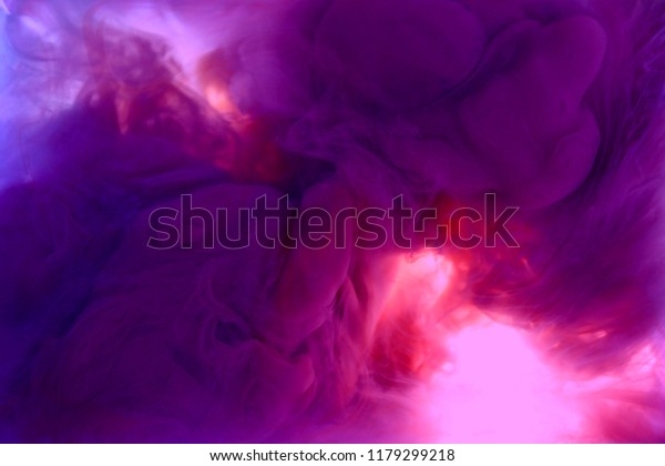 ink in water  mauve pink colorful abstract background isolated