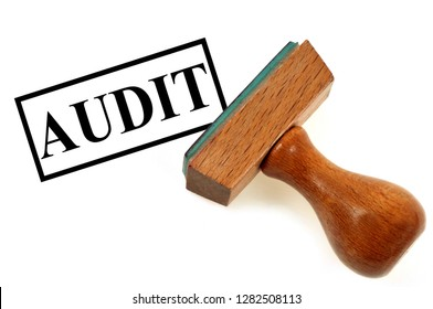 Inking-pad audit on white background