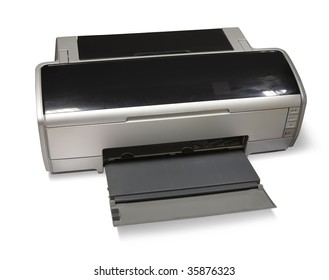 ink-jet printer A3. Isolated on white with clipping path