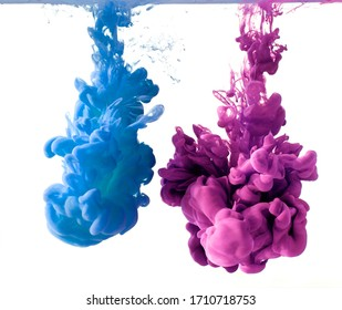 inks in water, color abstract explosion