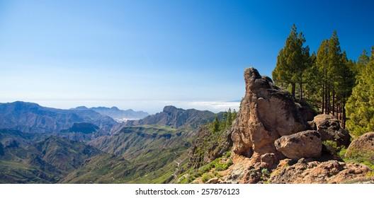 Inland Gran Canaria, hiking trail from Artenara to Cruz de Tejeda