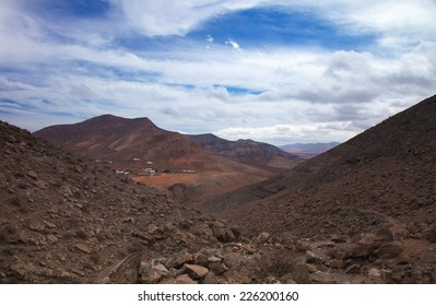 Inland Northern Fuerteventura, Canary Islands, view west from the slopes of La Muda Mountain