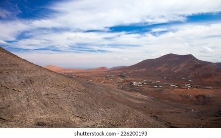 Inland Northern Fuerteventura, Canary Islands, view from the slopes of La Muda Mountain