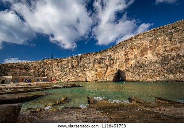 Inland Sea, Maltese famous landmark. Island of Gozo, Malta.