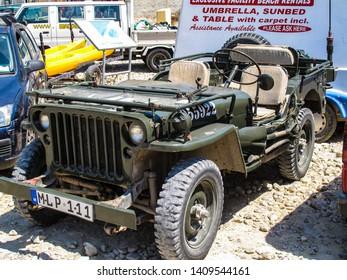 The Inland Sea/Gozo/Malta - 05/27/2019: A World War 2 jeep seen parked in Dweijra, Gozo.