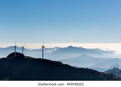 inland wind farm on jiugong mountain