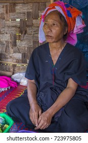 INLE LAKE , MYANMAR - SEP 07 : Portrait of Pao tribe woman in Shan state Myanmar on September 07 2017   Pao is the seventh largest ethnic nationality in Myanmar