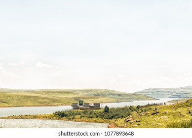 Inlet of the Vaal - Tugela water scheme in the Driekloof dam in the Free State Province of South Africa