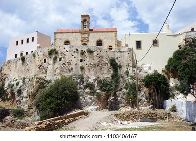 INNACHORI, GREECE - CIRCA MAY 2018 Chrysoskalitissa Monastery. 17th-century Orthodox Christian monastery located on the island of Crete.