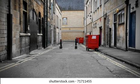 Inner City Dark Alleyway Background