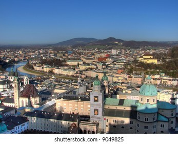 The inner city Salzburg is separated by the Salzach river. The old sovereignty (Old Town) is located on the left riverbank. Salzburg is also known as Austrian Paris because of the number of churches.