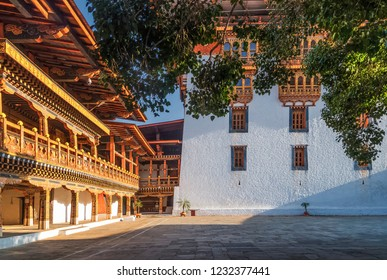 Inner courtyard of Punakha Dzong, Bhutan