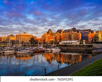 Inner Harbor of Victoria, British Columbia capital, Vancouver Island, Canada
