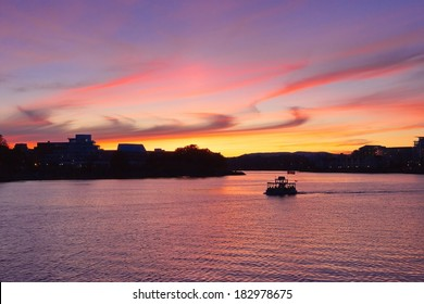 Inner Harbour at sunset, Victoria