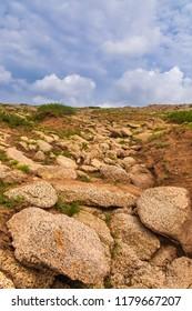 Inner Mongolia grassland, volcanic eruption and geological movement