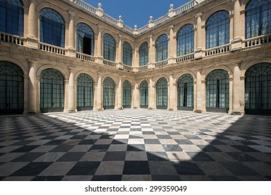The inner square of the archive of the indies in Seville, Spain