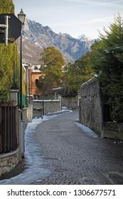 Inner street of a mountain village