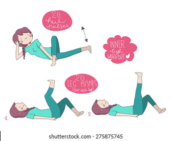 inner tigh illustrated gym exercises
