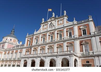 inner yard of royal palace, Madrid, Spain