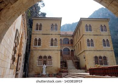 Inner yard of St. Antoine monastery in Kadisha valley