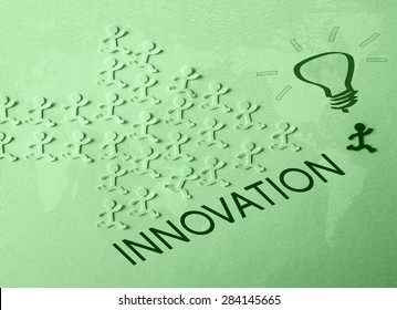 Innovation concept . Abstract  green image for business , digital, internet, network, connect, social media and global concepts.