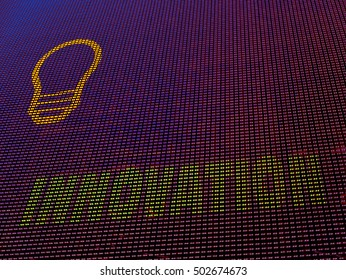 Innovation concept background for emerging technologies. Array of colored LED diodes.