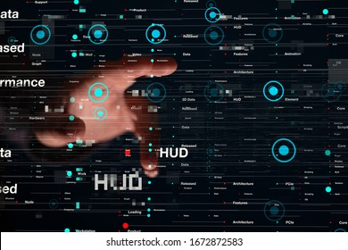 Innovation futuristic digital data binary code background technology