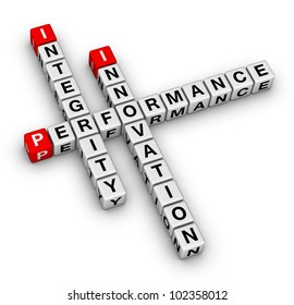 innovation, integrity, performance crossword puzzle