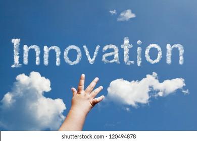 innovation word cloud shape form