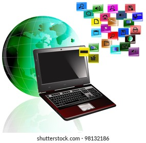 Innovative computers technology,The Internet concept