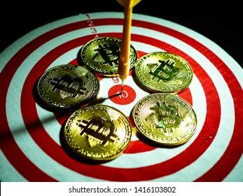 An innovative digital currency bitcion trading concept idea