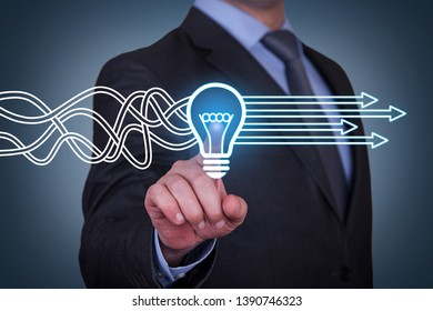 Innovative idea solution concepts on touch screen