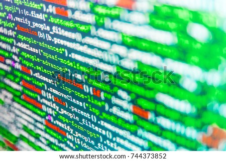 Innovative Startup Project Software Development Monitor Stock Photo