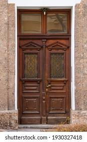 Innsbruck Austria 31-03-2015 colorful wooden doors