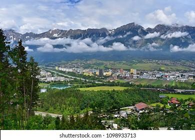Innsbruck (Austria) from above