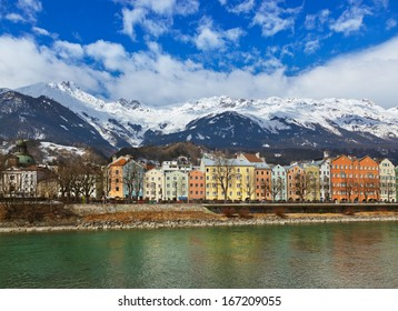Innsbruck Austria - architecture and nature background
