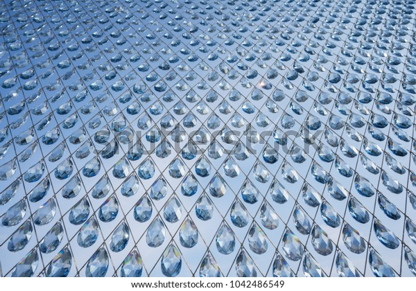 INNSBRUCK, AUSTRIA - FEBRUARY 2, 2018: A close-up of a crystal installation at the Swarovski crystal worlds (Kristallwelten) museum