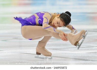 INNSBRUCK, AUSTRIA - JANUARY 17 Zijun Li (China) places third in the ladies' figure skating event on January 17, 2012 in Innsbruck, Austria.