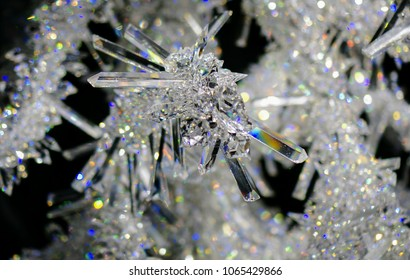 Innsbruck, Austria, March 30, 2018, Swarovski Crystal Worlds Museum, New Year's Spruce from Crystals