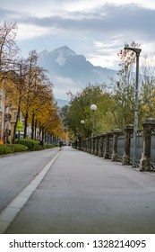 Innsbruck Austria November, 3rd 2018, , Europe, capital of Austria's western state of Tyrol, Austria, peple walking and enjoy holiday in the park in a old historic romantic city in the Alps,