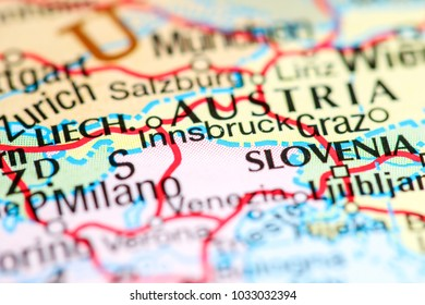 Innsbruck, Austria on a map