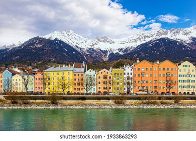 Innsbruck, Austria town with colorful houses