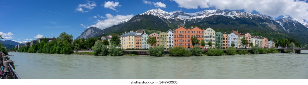 Innsbruck city panorama in austria