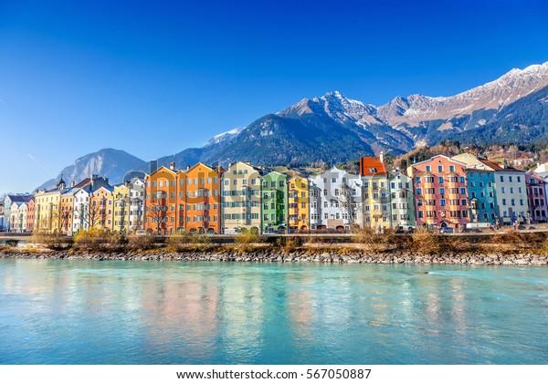 Innsbruck cityscape, Österreich.