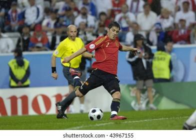 INNSBRUCK - JUNE 10: David Villa of Spain Football National Team during the match Spain-Russia 4:1 Euro2008 Group D scored 3goals. June 10, 2008, in Innsbruck, Austria